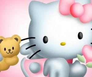 Puzzle Hello Kitty avec son ours en peluche Chum Tiny