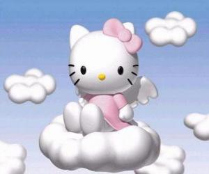Puzzle Hello Kitty battant, sur un nuage