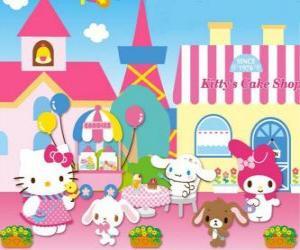 Puzzle Hello Kitty et ses amis passent une journée dans la pâtisserie