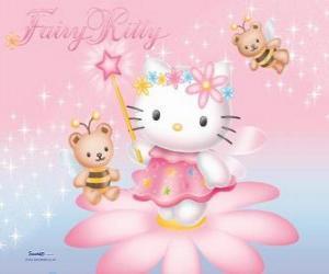 Puzzle Hello Kitty, le fée du jardin