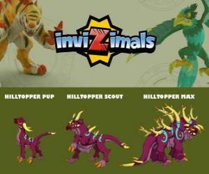Puzzle Hilltopper en trois phases Hilltopper Pup, Hilltopper Scott et Hilltopper Max, Invizimals