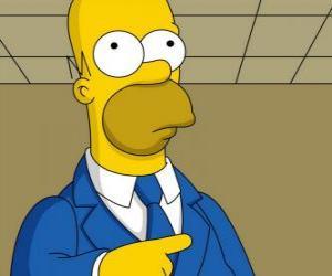 Puzzle Homer Simpson très élégant