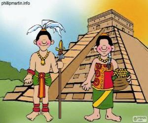 Puzzle Homme et femme maya