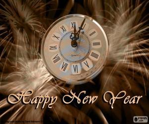 Puzzle Horloge de nouvel an