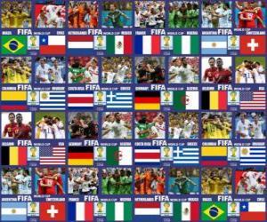 Puzzle Huitième de finale, Brésil 2014