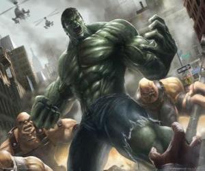 Puzzle Hulk avec un pouvoir pratiquement illimité est l'un des super héros les plus célèbres