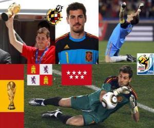 Puzzle Iker Casillas (le saint de Móstoles) gardien de but de la sélection espagnole