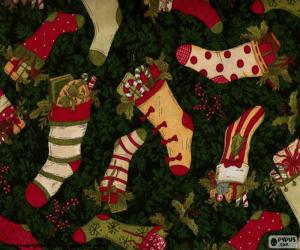 Puzzle image de bas de Noël et des bottes