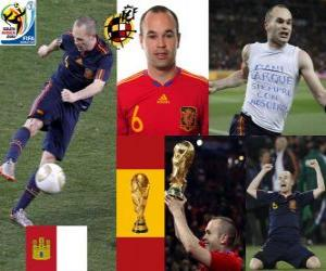 Puzzle Iniesta Andrés (Iniesta Sweet) milieu de terrain de l'équipe nationale Espagnol