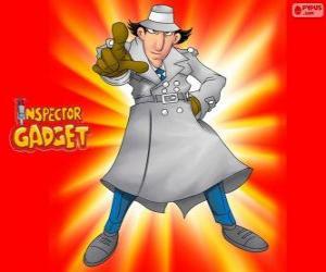 Puzzle Inspecteur Gadget est habillé comme le célèbre inspecteur Closeau