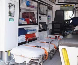 Puzzle Intérieur d'une ambulance
