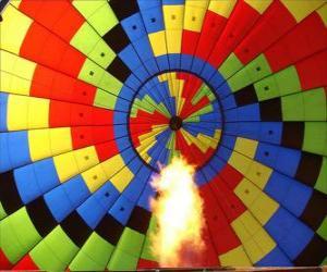 Puzzle Intérieur d'un ballon avec la flamme