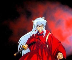 Puzzle Inuyasha, un demi-démon de le Japon féodal où vivez des aventures passionnantes