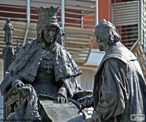 Puzzle Isabel la Católica et Colomb