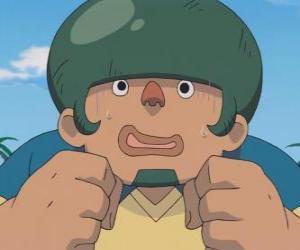 Puzzle Jack Wallside ou Heigoro Kabeyama est le défenseur grand et timide de Raimon Onze