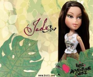 Puzzle Jade :  - Kool Kat -  est asiatique aux yeux verts. Son deuxième prénom est Marie, représente la sagesse.