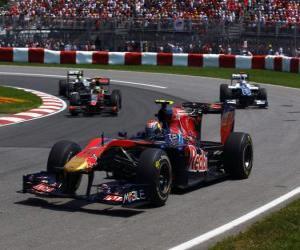 Puzzle Jaime Alguersuari - Toro Rosso - Montréal 2010