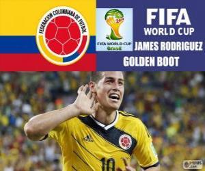 Puzzle James Rodriguez, Soulier d'Or. Coupe du monde Brésil 2014