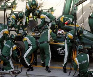 Puzzle Jarno Trulli 2010 - Lotus - Bahreïn