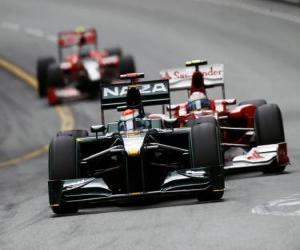Puzzle Jarno Trulli - Lotus - Monte-Carlo 2010