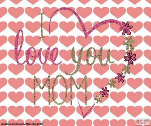 Puzzle Je t'aime Maman