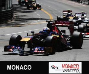 Puzzle Jean-Eric Vergne - Toro Rosso - Monte-Carlo 2013