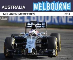 Puzzle Jenson Button - McLaren - Grand Prix Australie 2014, 3e classés