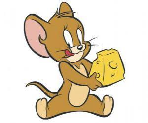Puzzle Jerry manger un délicieux morceau de fromage