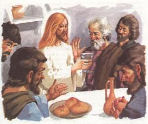 Puzzle Jésus bénit le Pain et le Vin lors de la dernière Cène