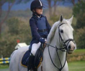 Puzzle Jeune cavalière, jeune fille à cheval