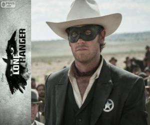 Puzzle John Reid (Armie Hammer) dans le film Lone Ranger