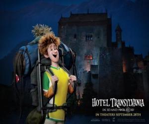 Puzzle Jonathan, le jeune voyageur qui arrive à l'hôtel