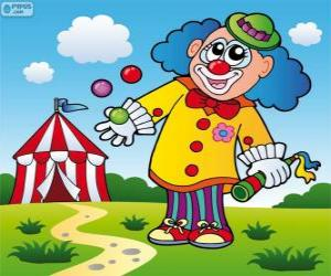 Puzzle Jongleur clown
