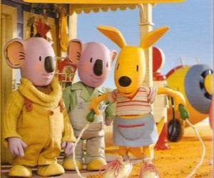 Puzzle Josie le kangourou sautant à la corde
