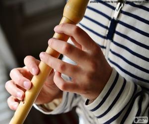 Puzzle Jouant de la flûte
