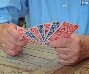 Puzzle Jouer a cartes