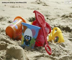 Puzzle Jouets de plage
