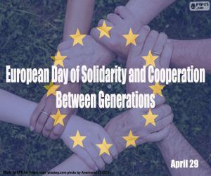 Puzzle Journée européenne de solidarité et de coopération entre les générations