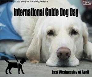 Puzzle Journée internationale des chiens guides