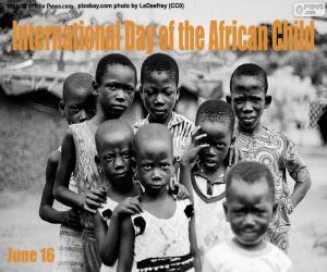 Puzzle Journée internationale de l'enfant africain