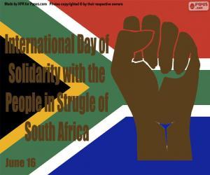 Puzzle Journée internationale de solidarité avec le peuple dans la lutte contre l'Afrique du Sud