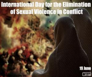 Puzzle Journée internationale pour l'élimination de la violence sexuelle en temps de conflit