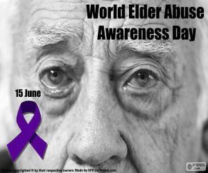 Puzzle Journée mondiale de sensibilisation à la maltraitance des personnes âgées