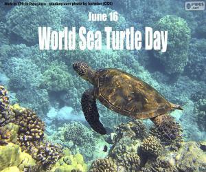 Puzzle Journée mondiale des tortues de mer