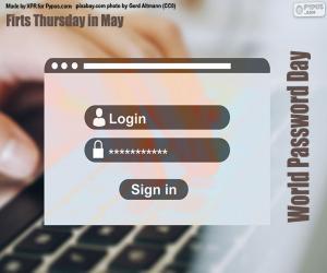 Puzzle Journée mondiale du mot de passe