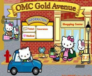 Puzzle Journée de shopping avec Hello Kitty et ses amis