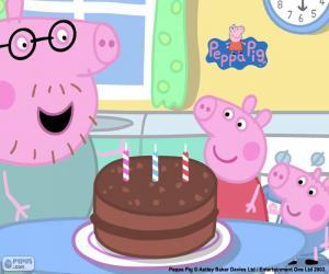 Puzzle Joyeux anniversaire Peppa Pig