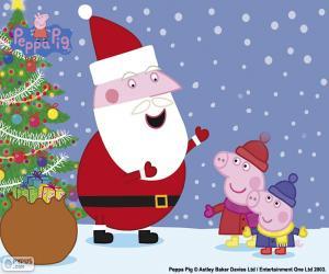 Puzzle Joyeux Noël Peppa