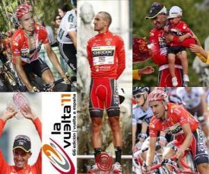 Puzzle Juanjo Cobo (GEOX) champion du Tour d'Espagne 2011