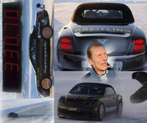 Puzzle Juha Kankkunen, record de vitesse sur glace